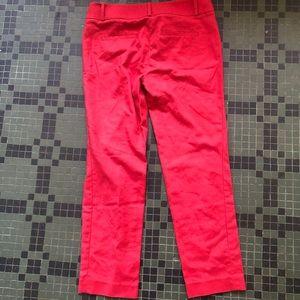 LOFT Pants - LOFT Marisa Pants, Red, Size 2